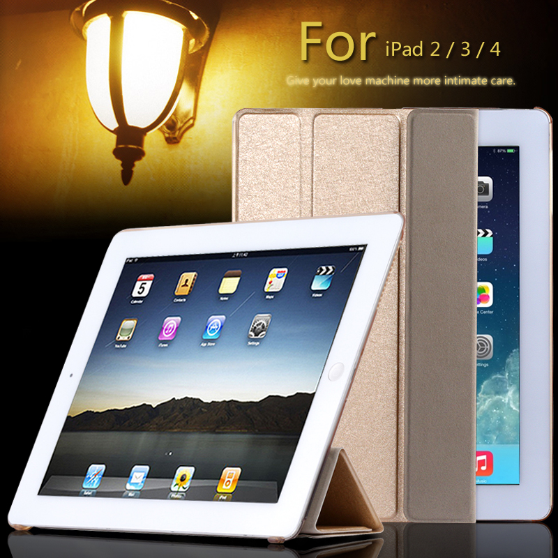 super stand support four folders case for apple ipad 2 3 4 slim light slik pu leather flip with. Black Bedroom Furniture Sets. Home Design Ideas