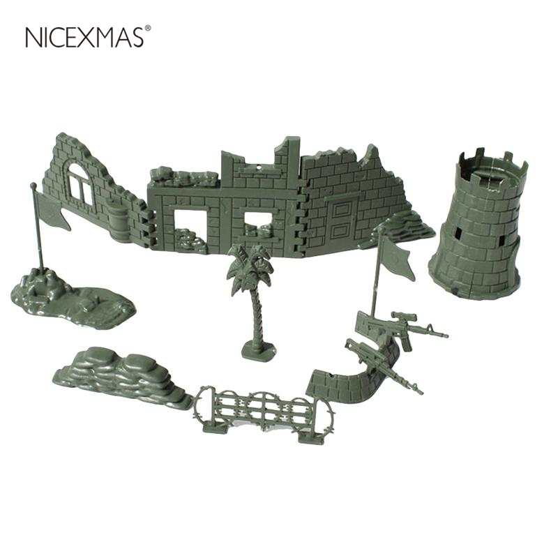 1pcs Military Ruins Set Sand Table War Fence Assembly DIY Accessory Military Scene Kit Model Toy For Children Kids