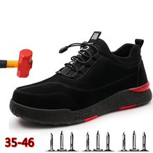 Safety Shoes Men Steel Toe Safety Work Shoes For Men Lightweight Breathable Anti-Smashing Non-Slip Anti-static Protective Shoes safety shoes steel toe sole for men anti smashing work boots work safety protective shoes men shoes