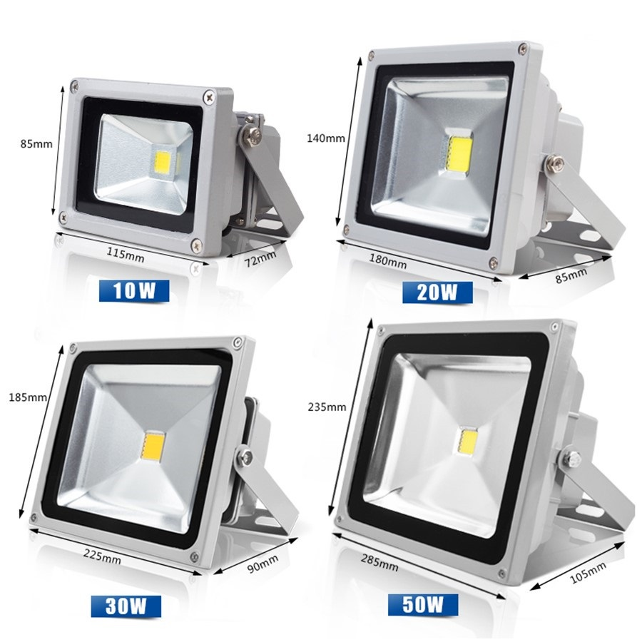 Waterproof LED Flood Light 10W 20W 30W 50W Warm White/Cool White Outdoor Lighting Floodlight AC85-265V Free Shipping