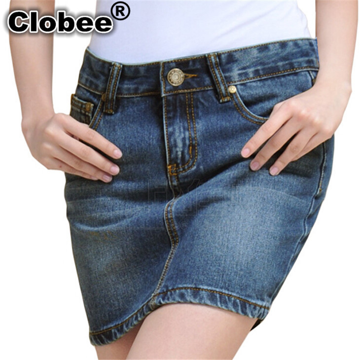 Sociais Jupe Grande Saia Delgado Alta Saias 4xl Mujer Damas Jeans Lápiz Mujeres Faldas Cintura Con Tamaño Falda Cremallera Denim De dZHTqCH
