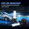 Oslamp cree chip 6500 k h7 led headlight kits para coche 2wd automóvil CONDUCIDO Luz Antiniebla Sin Ventilador Solo Haz H7 Bombillas de Los Faros 50 W/Pair