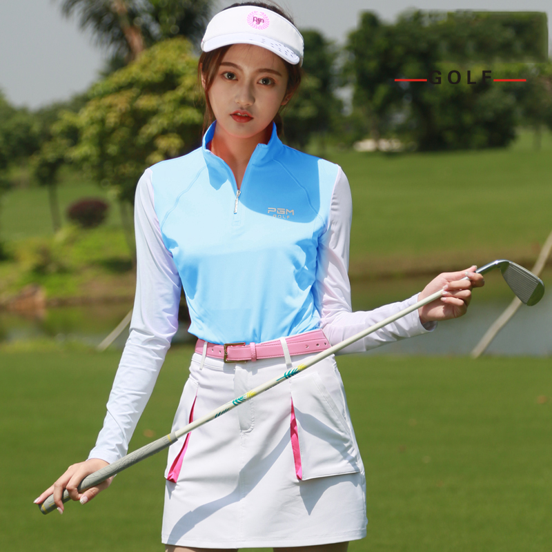 Golf Shirt Long Sleeve Golf Shirts Women Tshirt 2018 Sports Wear Sun Protection Clothing Bottoming High Colla Korean Polo Shirt 2