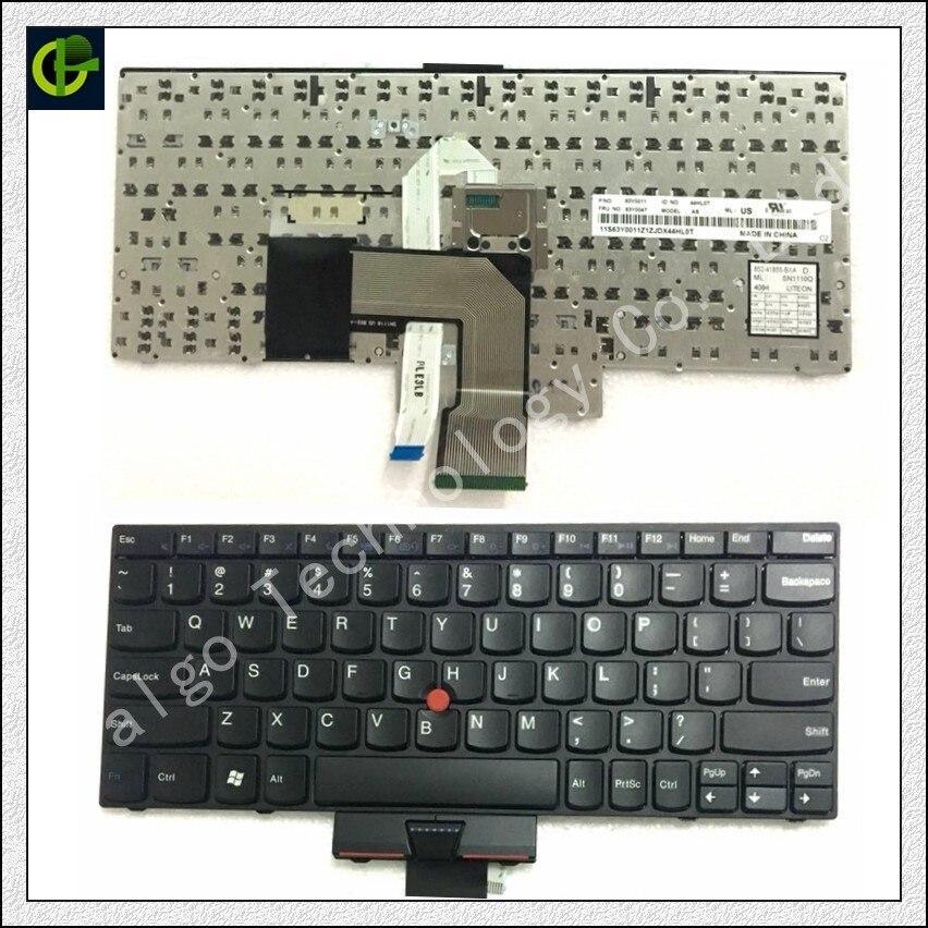 Anglais Clavier pour THINKPAD E220 E130 X121 X130 X131E X140E X140 E125 X131 Bord 11 12 E120 E135 E220S S220 x121E X130E E145 NOUS