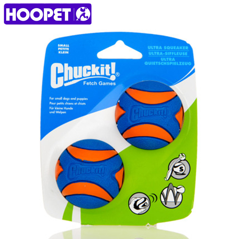 HOOPET Pet Puppy Dog Chew Toy Squeaky Sonido Puro Caucho Natural No tóxico Resistente a Morder Los Dientes Cleaner Ball