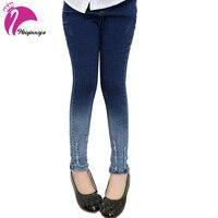 Kinder Mädchen Jeans Für Mädchen Neue 2017 Erwärmt Mode Elastischer Bund Hose Kinder Skinny Jeans Für Mädchen Kinder Kleidung Heißer