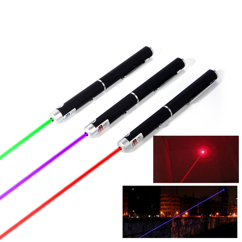Laser Pointer Mini 5MW 532nm Red Purple green Laser Powerful Presenter Remote Lazer (Batteries not included)