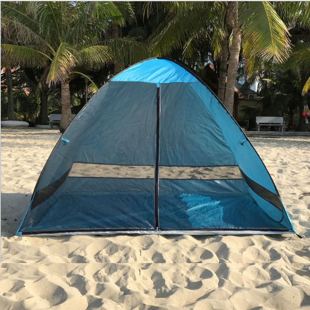 Anti-mosquito beach shade tent with gauze UV protection Automatically camping outdoor portable beach tent with mesh curtain 2