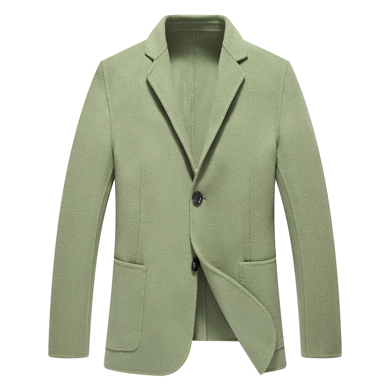 New Arrival Wool & Blends Suit Design Wool Coat Men's Casual Trench Coat Design Slim Fit Office Suit Jackets Coat(China)