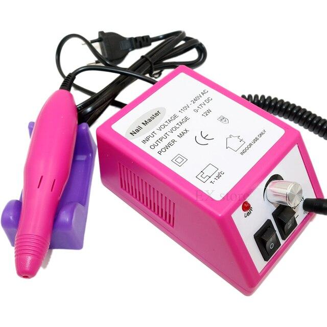 Pink electric nail file machine 20000rpm nail drill professional ...