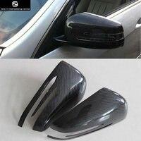 W204 W212 W218 W156 Paste carbon fiber rear view mirror cover for Mercedes Benz W204 W219 W212 W156 Free shipping