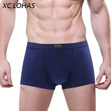 2017 New Men Boxers Cotton Underwear Man Solid Soft Cueca Boxer Homme Shorts For Mens Modal Panties Underpants Cheap Sale