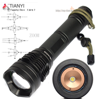 Waterproof XM L P50 LED 5000LM Zoomable LED Flashlight Handy Outdoor Led Bulb Adjustable hight Torches 2x 18650/26650 Batteries