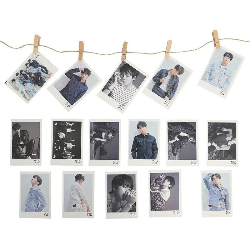Kpop Bts Bangtan Boys Love Yourself Tear Album Transparent Photo Card Pvc Cards Self Made Lomo Card Photocard