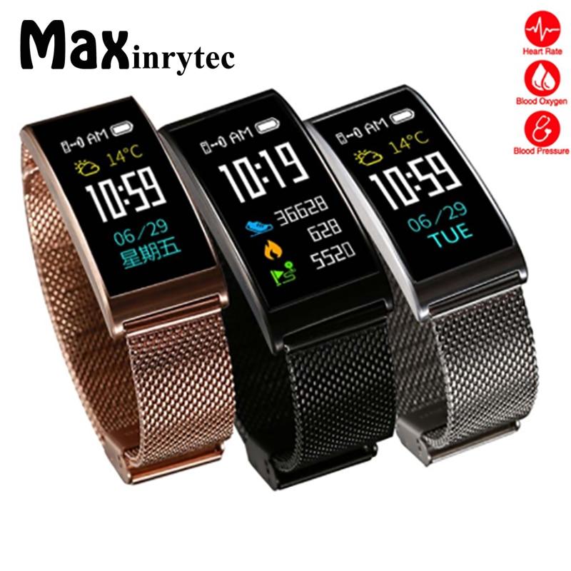 Maxinrytec X3 Haute Qualité Bracelet Fit Bit Flex Montre Smart Watch IP68 Étanche Fréquence Cardiaque Tracker Smartband Fitness Moniteur