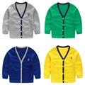 Meninos sólidos Single Breasted primavera outono casacos meninos roupa dos miúdos roupas meninos casacos