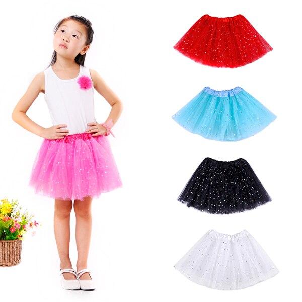 Tutu Baby Skirts Fancy Newest Glitter Star Girls Tutu 3 Layered Tulle Black Tutu  Skirt Sequin pettiskirts Skirt Free Shipping b092a9402565