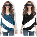New Korean Long-sleeved T-shirt Mixed Colors Irregular Cotton Fashion Plus Size XXL Loose High Quality Female Women Clothes