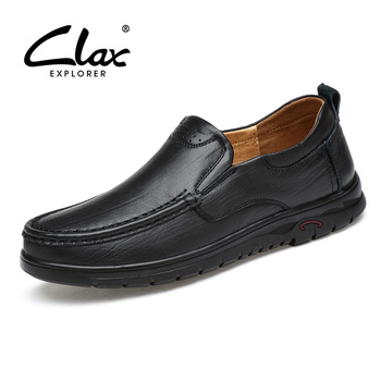 CLAX Man Shoes Genuine Leather Summer Autumn Men's Boat Shoe Slipons Male Moccasins Loafers luxury