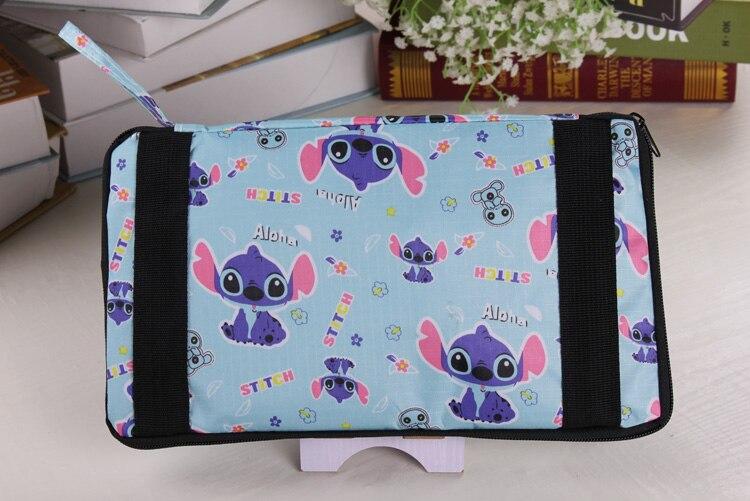 2018 Hot Sale Lilo&stitch Folding Travel Bag Large Capacity Waterproof Printing Bags Cartoon Portable Womens Tote Anime Women