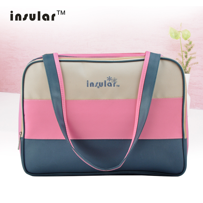 Insular Colorful Stripe Diaper Bag Multifunctional Waterproof Baby Care Nappy Mummy Bag Mother Maternity Nappy Diaper Bag
