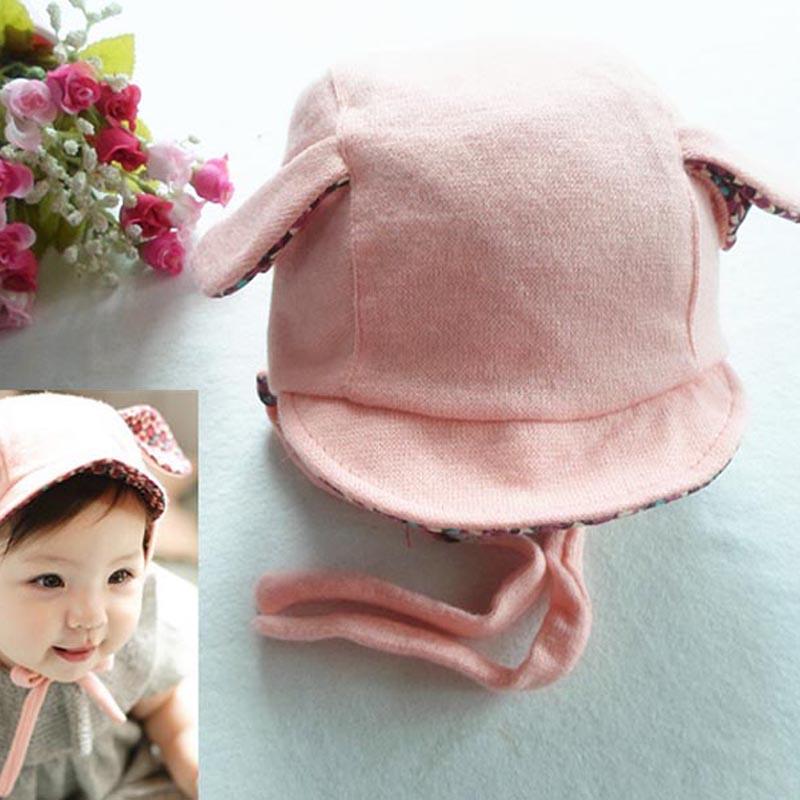 Winter Bomber Hats 0-2Y 1 PCS Cute Rabbit Long Ear Hat Baby Bonnet Kids Girls Boys Baby Hat Photo Props Yellow/Pink Chidren