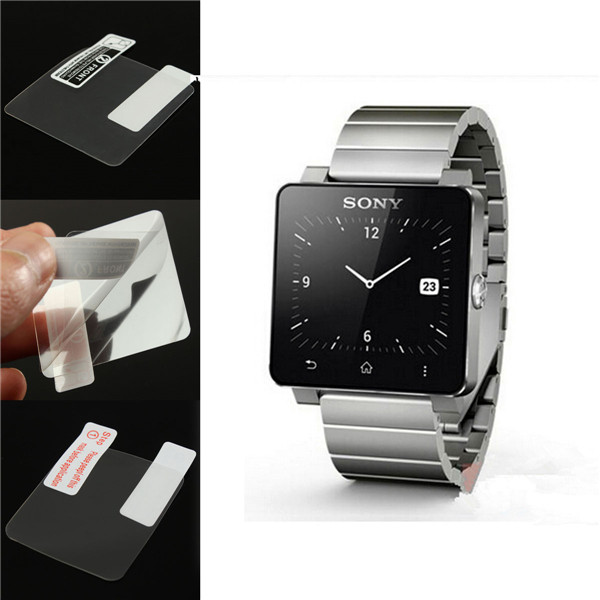 0 2mm Premium Protective Flim Screen Protector For Sony font b SmartWatch b font 2 For