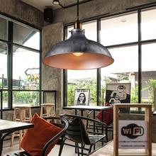 цена Creative retro lofe chandelier dining room office bar restaurant club cafe light aisle store pendant lamp vintage droplight онлайн в 2017 году
