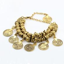 New Women Vintage Crystal Pendant Coin  Anklet Bracelet Barefoot Sandal Beach Foot Jewelry Beautiful Accessories
