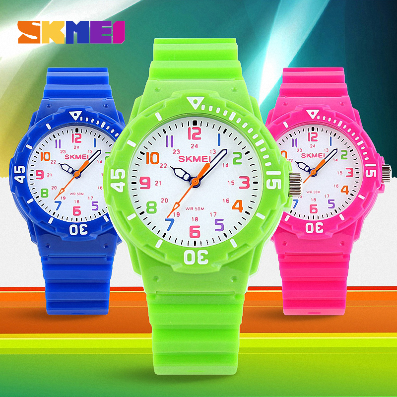 Skmei 1043 Children Watch Fashion Casual Watches Quartz Wristwatches Waterproof Jelly Kids Clock boys Hours girls
