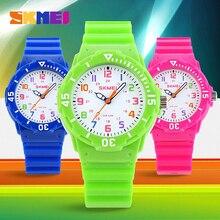 Skmei 1043 Reloj de Los Niños de Moda Casual Relojes de Pulsera de Cuarzo Jalea Impermeable Niños chicos Reloj Horas chicas Reloj de pulsera