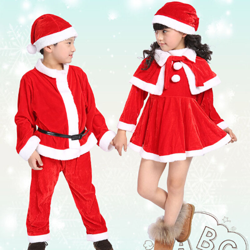 Buy 2017 Shcool Style Costume Christmas Cotton Cap Dress Tops Pants Clothes