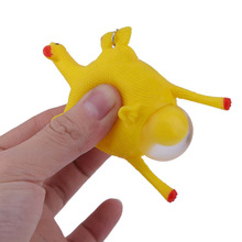 Hot 3pcs Fun Toys Chicken Egg Laying Chickens Novelty Gag Toys Party Joke Toys Squeezing Decompression