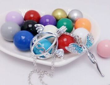 SHIYING ssss wing sliver crystal angel new design factory produce Wind Ringing Pendant Colors Angel Ball in Necklaces