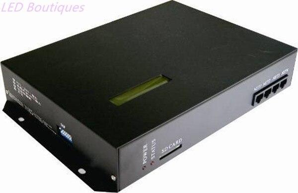 Contrôleur de pixel mené en ligne/hors ligne de T200K, peut être commandé par l'intermédiaire du PC, contrôleur compatible de WS2812 WS2811 6803 WS2801 IC rvb