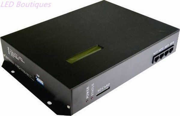 T200k онлайн/оффлайн регулятор водить пикселей, можно управлять с помощью ПК, совместимость Ws2812 Ws2811 6803 WS2801 IC RGB контроллер