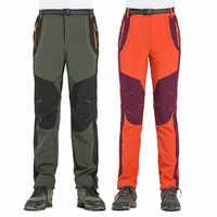 新しいトレッキングパンツ男性防風防水 UV 保護ズボン屋外スポーツキャンプ Windstopper ソフトシェルパンツ