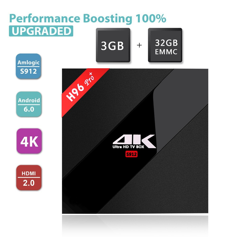 H96PRO+ android6.0 s912 cpu 3gb 32gb double wifi2