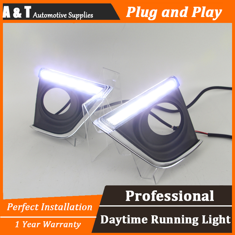 A&T car styling For Toyota Carola LED DRL For Carola led fog lamps daytime running light High brightness guide LED DRL Straight for lexus rx gyl1 ggl15 agl10 450h awd 350 awd 2008 2013 car styling led fog lights high brightness fog lamps 1set