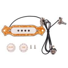 Pre-wired 4 String Electric Cigar Box Guitar Magnetic Pickup with Volume & Tone цена в Москве и Питере
