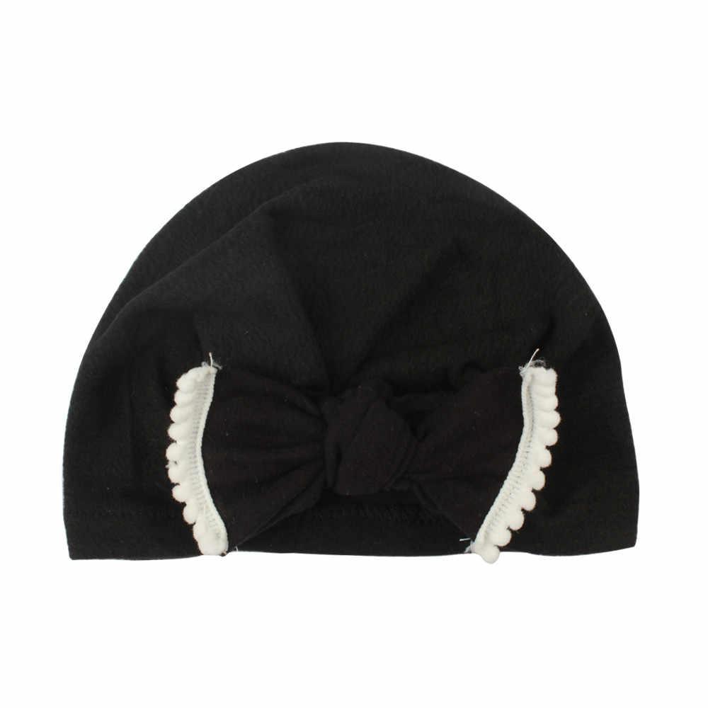 1PC หมวกทารกแรกเกิดน่ารักเด็กวัยหัดเดินเด็กทารกเด็กทารกเด็ก Turban หมวกผ้าฝ้าย Beanie หมวกฤดูหนาวหมวกเด็กอุปกรณ์เสริมสำหรับเด็ก