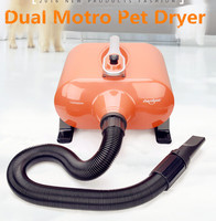 Large Dryer For Cats Dogs Pet Dog Cat Dryer With Dual Motor Hair Blower For Grooming 2800w Fast Drying In 10 Minutes