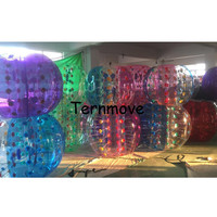 body zorb bubble ball transparent human bumper balls with dot sports toy game ball 0.8mm PVC inflatable bumper ball