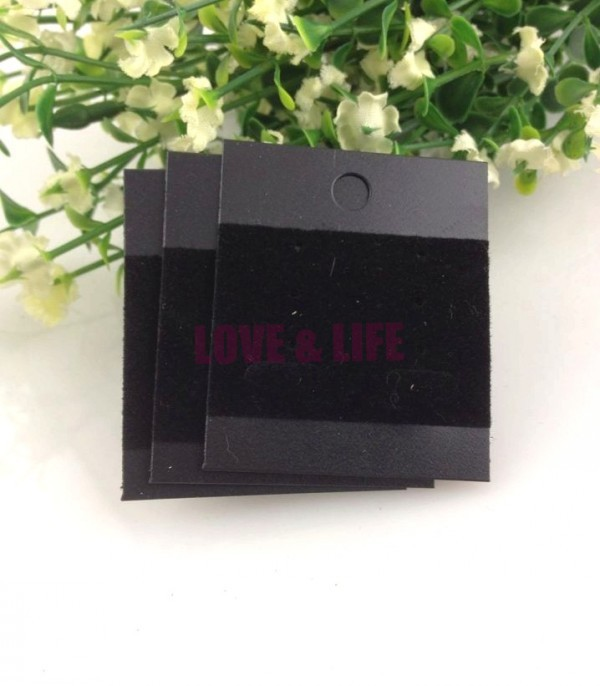 Free Shipping 200x Black Plastic With Velvet Card,Ear Hooks Earring Display Cards,Cheap Jewelry Earring Packaging Card Supplier