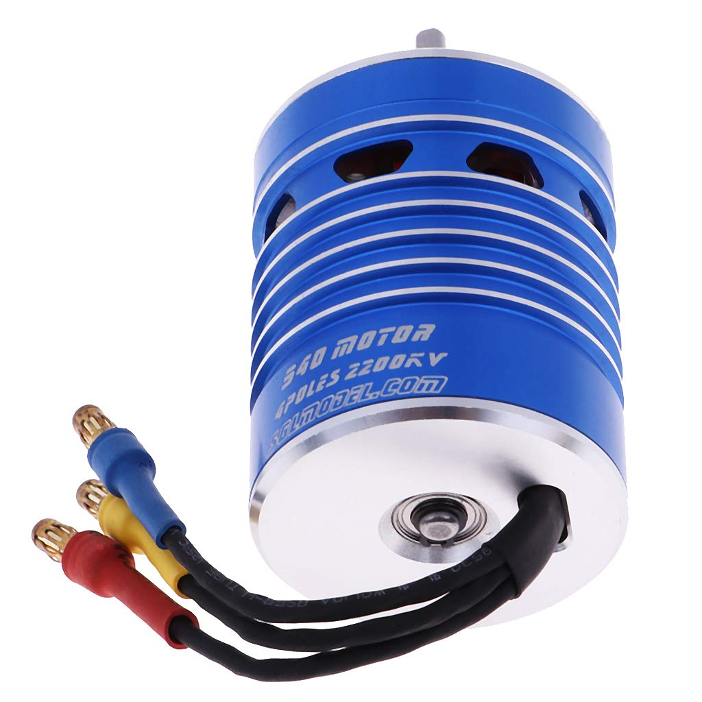 CNC Waterproof 2200KV 14 Poles Brushless Motor for 1//8 1//10 RC Crawler Parts