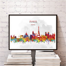 Famous Travel city PARIS poster for home living room bedroom cafe bar decor retro poster wall sticker print picture free ship(China)