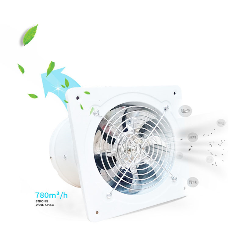 ITAS1268 6 Inches Industrial Exhaust Fan Kitchen Bathroom Restaurant Ventilator Silent High Speed Fan Strong Exhaust Fan 150mm