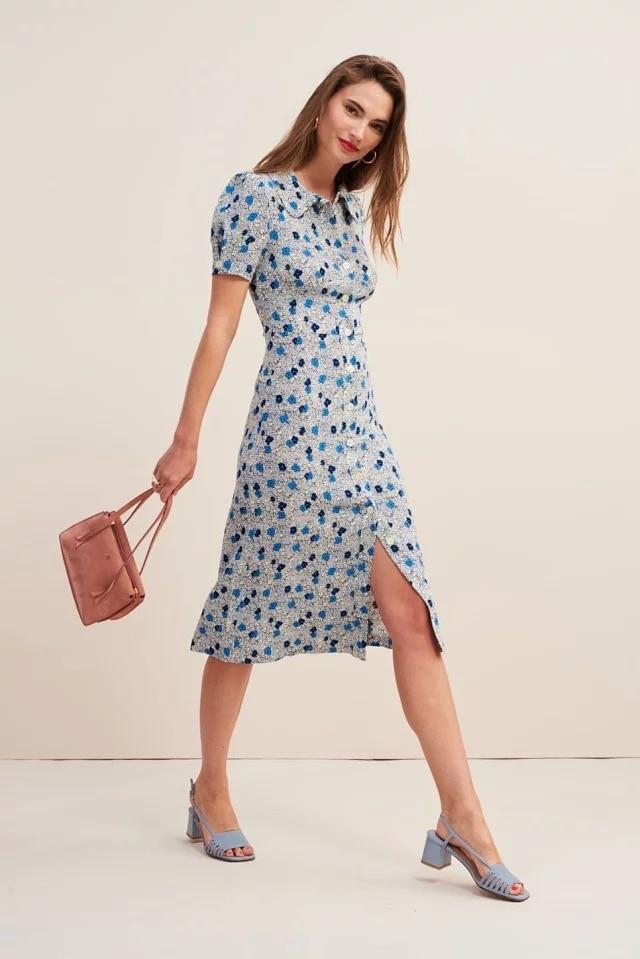 女性ドレス 19 夏プリントフレンチケリスリムフィット気質ドレス  グループ上の レディース衣服 からの ドレス の中 1