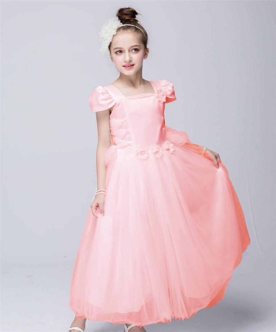 Rosa flor blanca vestido de la muchacha vestidos de boda europea ...