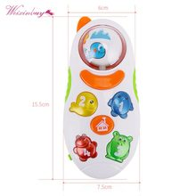 Cute Mini Music Phone Toy Children Cartoon Mobile Phone Light Music Sound Toys Baby Toddlers early education multi-function(China)